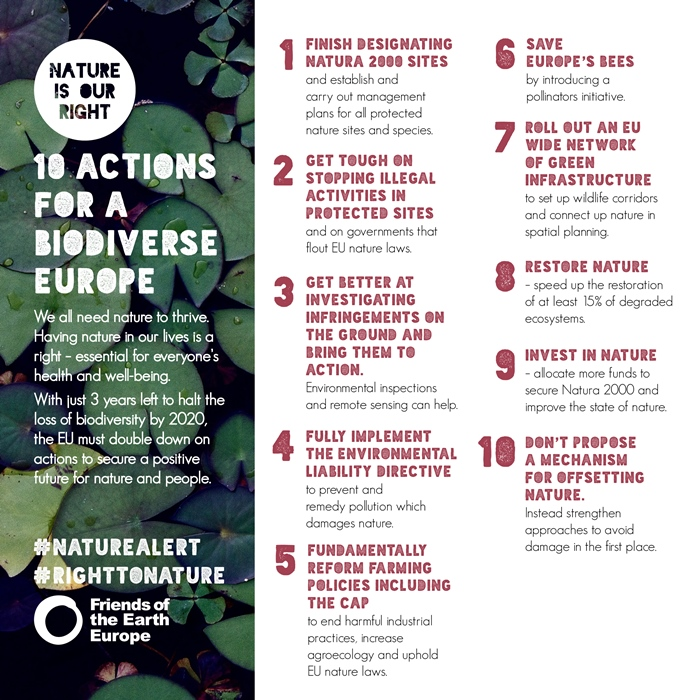 10 actions for a biodiverse Europe