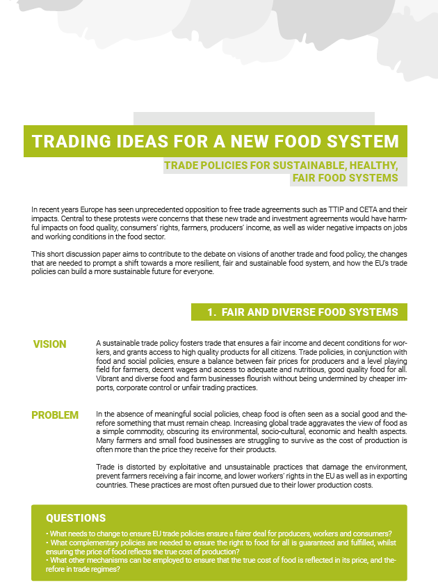 Trading Ideas For A New Food System Friends Of The Earth Europe