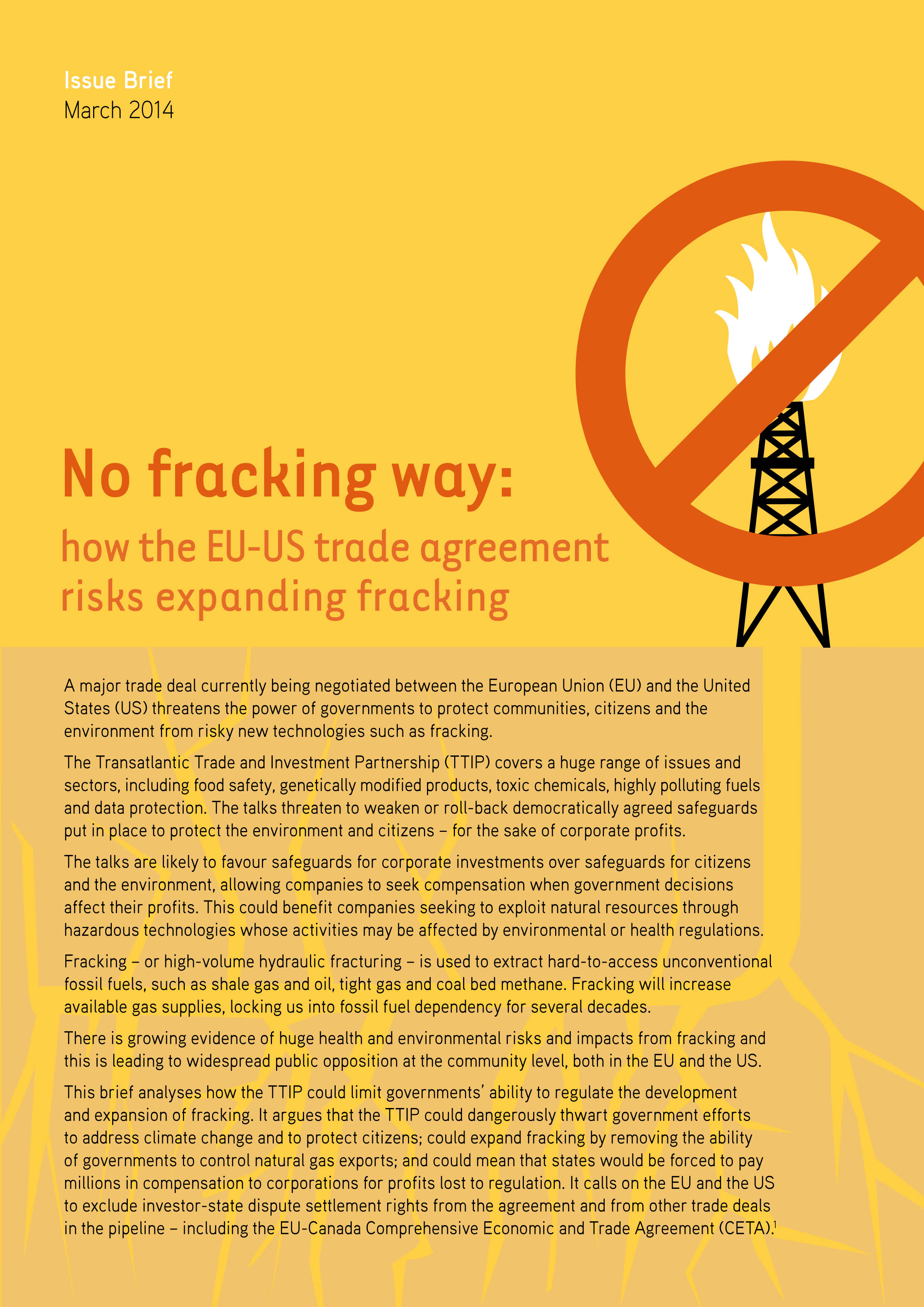 No Fracking Way How The Eu Us Trade Agreement Risks Expanding
