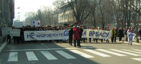 Protesting in Banja Luka for the Vrbas canyon