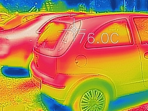 Heat wave in Wekerle - thermal camera exposes heat traps