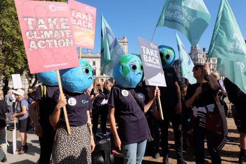 Friends of the Earth at the climate strike London