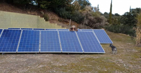 La Corriente member with her solar panels