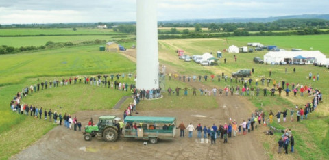 Ecopower community wind turbine