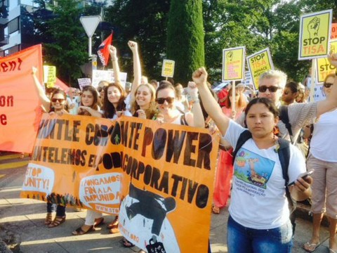 Calling to dismantle corporate power (c) Stop Corporate Impunity