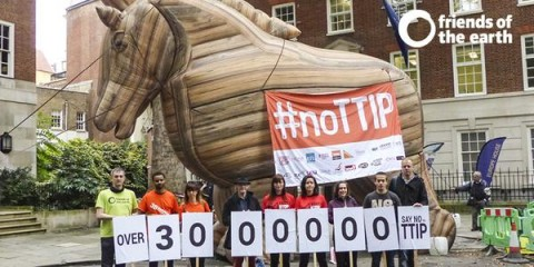 ECI petition against TTIP handed to the European Commission in London (c) FoE EWNI