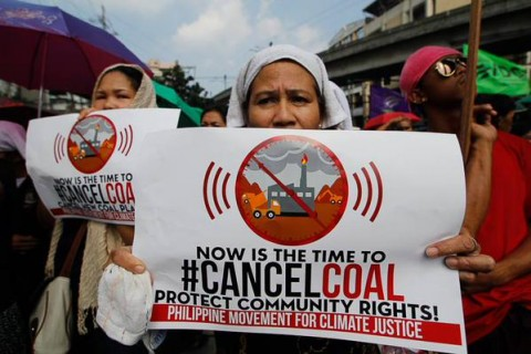 Cancel coal protest in the Philippines #ReclaimPower