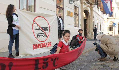 FoE Croatia protest against Krk gas terminal 11.10.2018