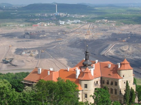 The view from Horní Jiřetín, one of the villages threatened by the coal push (c) FoE Czech Republic