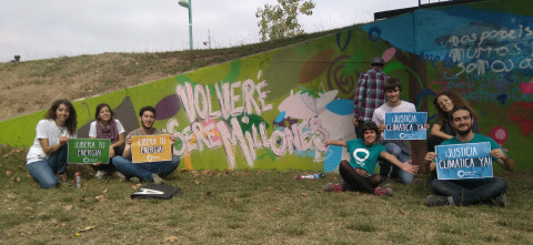 Mural, Days of Action, Reclaim Power, Aragon