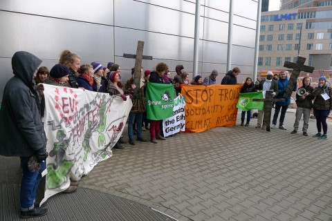 Frontex protest