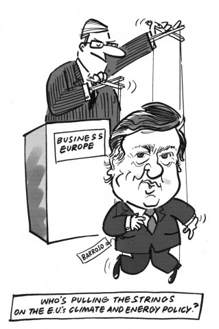 Barroso & Business Europe puppetry