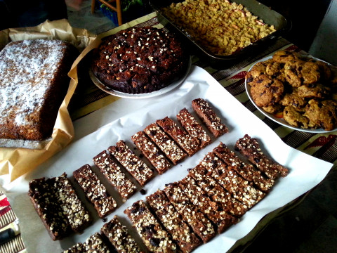 Selection of cakes baked by volunteers for a local festival! Photo: Ingrid