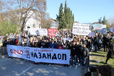 March in Macedonia against mining.