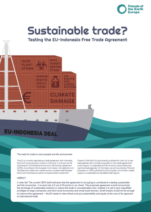 Sustainable Trade Testing The Eu Indonesia Free Trade Agreement