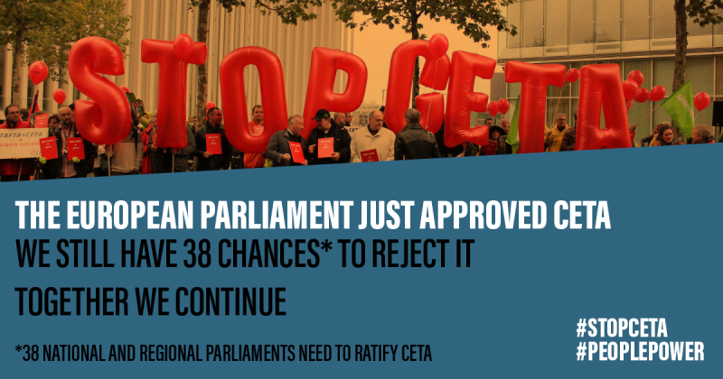 Ceta Backward Step For The Environment Global Inequalities And