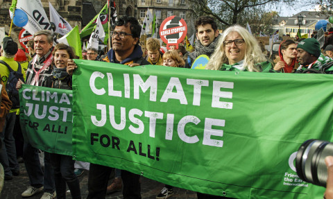 25,000 people marched through Bonn to demand climate justice at the start of the UN talks