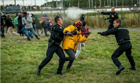 Police violence in Calais