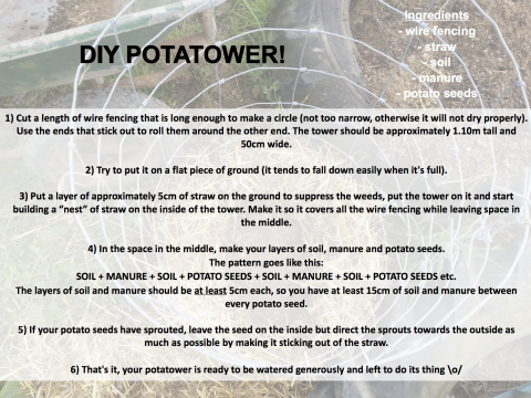 Recipe for your very own POTATOWER!