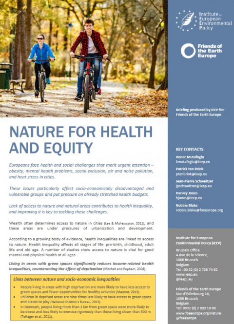 Nature for Health and Equity | Friends of the Earth Europe